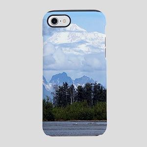 Denali, forest, river, mountai iPhone 7 Tough Case