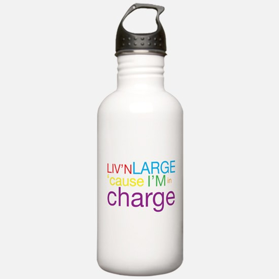Livn Large cause Im in Charge Water Bottle