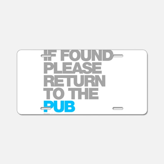 Funny Return Aluminum License Plate