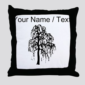 Custom Willow Tree Throw Pillow