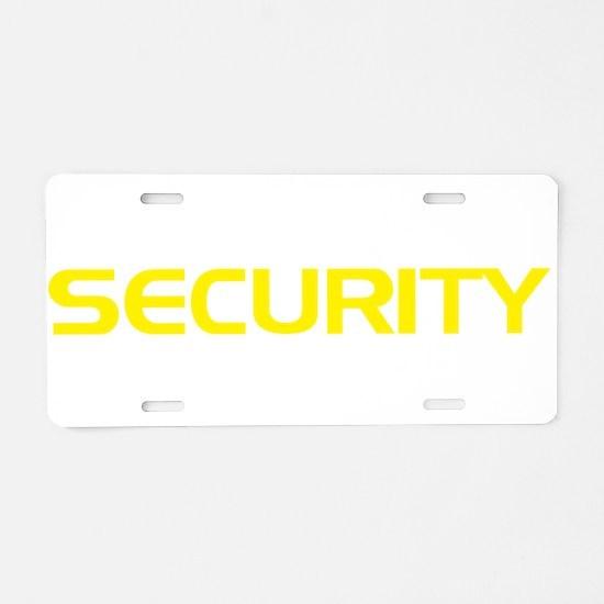 Security Aluminum License Plate