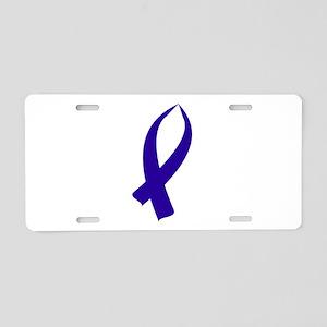 Awareness Ribbon (Dark Blue Ribbon) Aluminum Licen