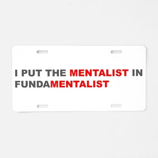Funny Anti fundamentalist Aluminum License Plate