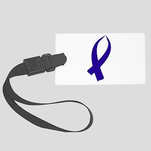 Awareness Ribbon (Dark Blue Ribbon) Luggage Tag