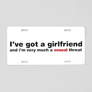 Im A Sexual Threat Aluminum License Plate
