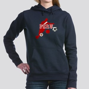 Peru Football Player Women's Hooded Sweatshirt