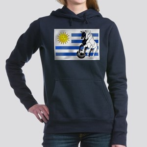 Uruguay Soccer Flag Hooded Sweatshirt
