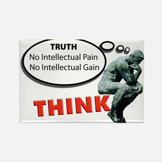 Think! No Pain No Gain Magnets