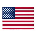 USA Flag 5'x7'Area Rug