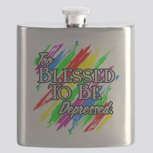 To Blessed to be Depressed Flask