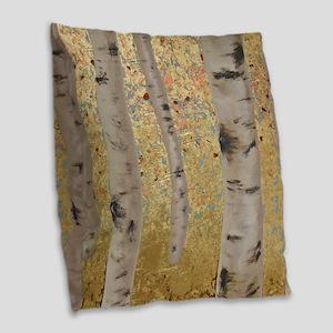 Ghosts Of Autumn Burlap Throw Pillow
