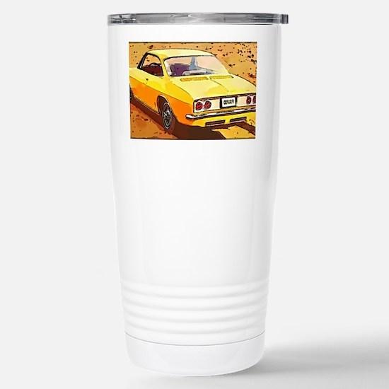 Yellow Corvair Watercol Stainless Steel Travel Mug