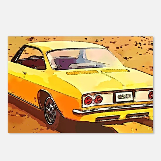 Yellow Corvair Watercolor Postcards (Package of 8)