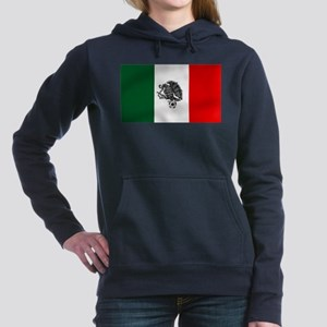 Mexican Soccer Flag Women's Hooded Sweatshirt