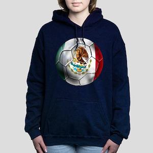 Mexican Soccer Ball Hooded Sweatshirt