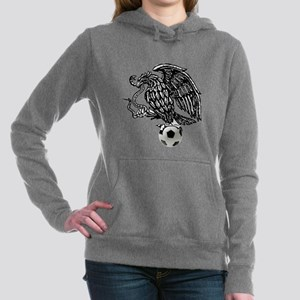 Mexican Football Eagle Women's Hooded Sweatshirt