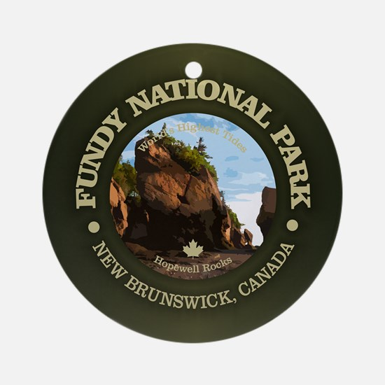 Fundy NP Round Ornament