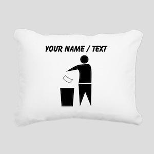 Custom Man Trash Icon Rectangular Canvas Pillow