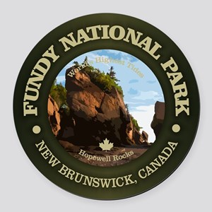 Fundy NP Round Car Magnet