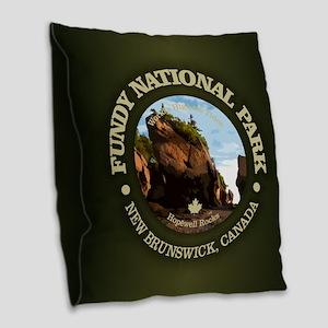 Fundy NP Burlap Throw Pillow