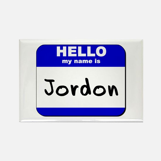 hello my name is jordon Rectangle Magnet