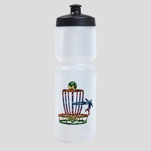 Disc Golf Basket Art Sports Bottle