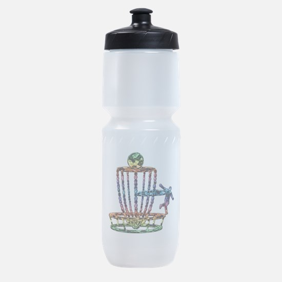 Disc Golf Basket Art Sports Bottle