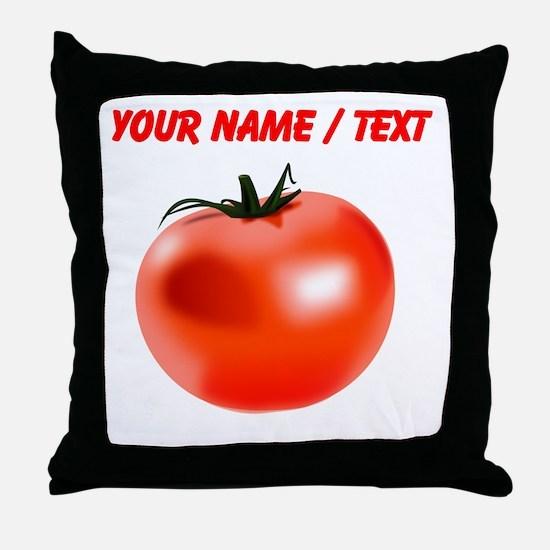 Custom Tomato Throw Pillow