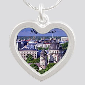 Riga, Latvia Silver Heart Necklace