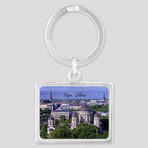Riga, Latvia Landscape Keychain