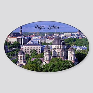 Riga, Latvia Sticker (Oval)