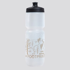 Leave Nothing but Footprints Brown Sports Bottle