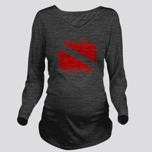 YOUR TEXT FADED DIVE FLAG Long Sleeve Maternity T-