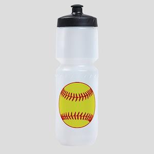 Softball Yellow Sports Bottle