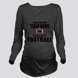 Your Team Fantasy Gray Long Sleeve Maternity T-Shi