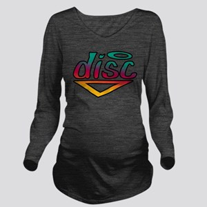 disc golf text grad1 Long Sleeve Maternity T-S