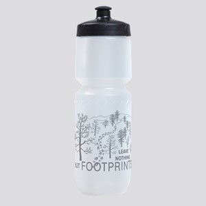 Leave Nothing but Footprints BLK Sports Bottle