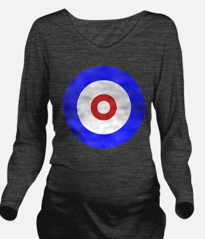Curling Circle.png Long Sleeve Maternity T-Shirt