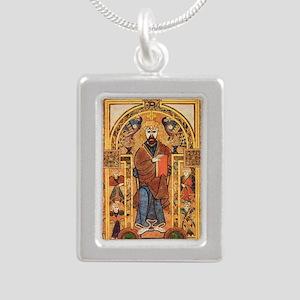 Book of Kells Silver Portrait Necklace