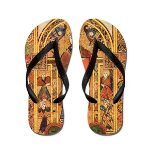 5aae2c58bdca9 Jesus Christ Flip Flops - CafePress
