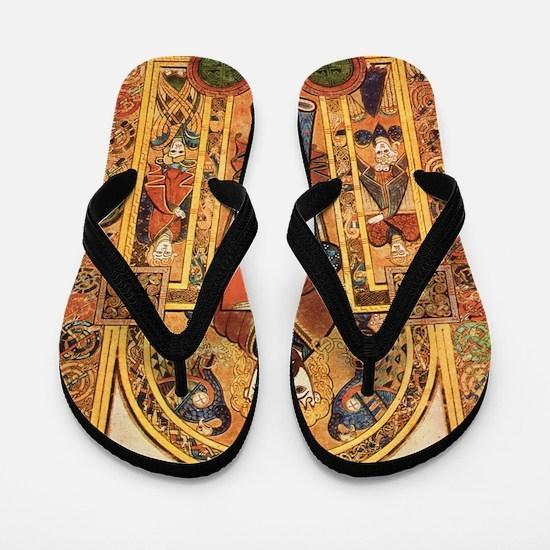 Book of Kells Flip Flops