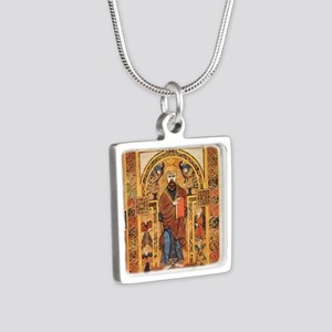 Book of Kells Silver Square Necklace