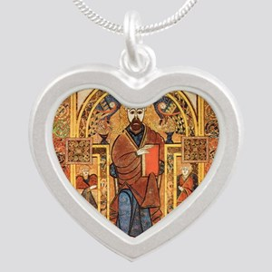 Book of Kells Silver Heart Necklace