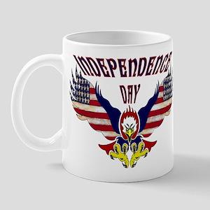Eagle w/ Flag Wings (Independence Day)  Mug