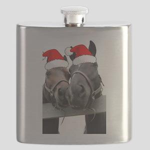 Christmas Horses Flask