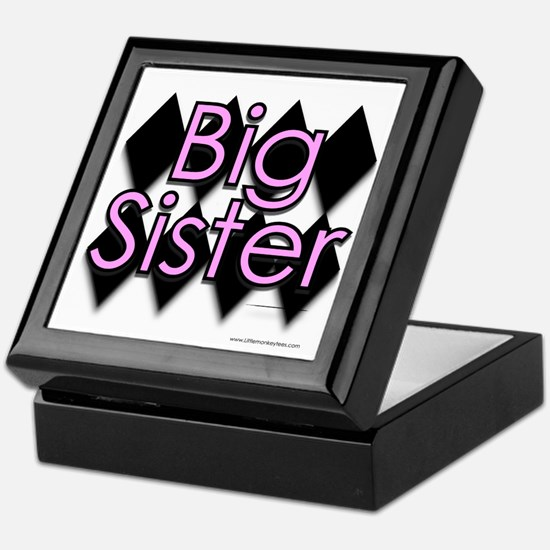 Big sister pink diamond Keepsake Box