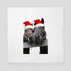 Christmas Horses Queen Duvet