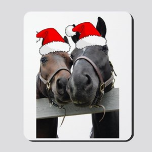 Christmas Horses Mousepad