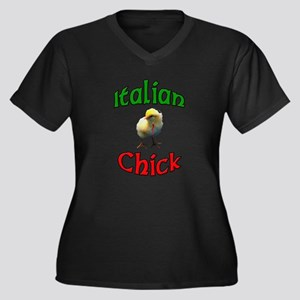 Italian Chick with Italian Ho Women's Plus Size V-
