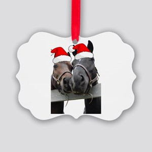 Christmas Horses Ornament